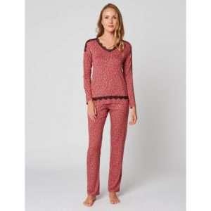 Pyjama framboise/noir