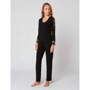 Pyjama lange mouwen zwart