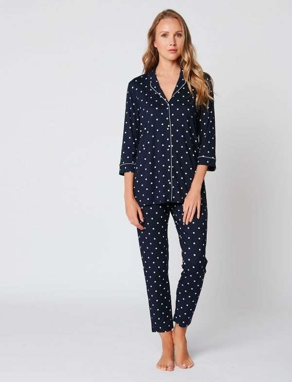 Le Chat pyjama marine, 3/4 broek