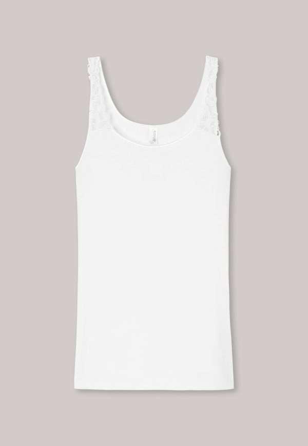 Onderhemdje met kanten schouderbandjes