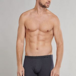 Heren boxershort donkerblauw/bruine stipjes