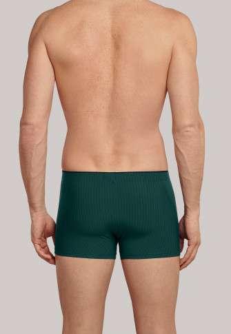 Heren boxershort donkerblauw/groene strepen