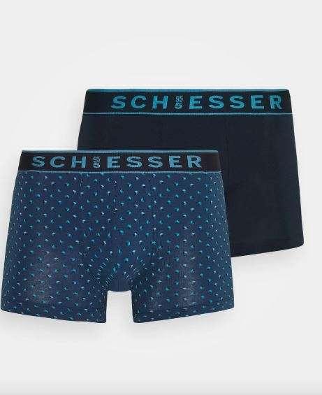 Heren boxershort, 2-pack, blauw