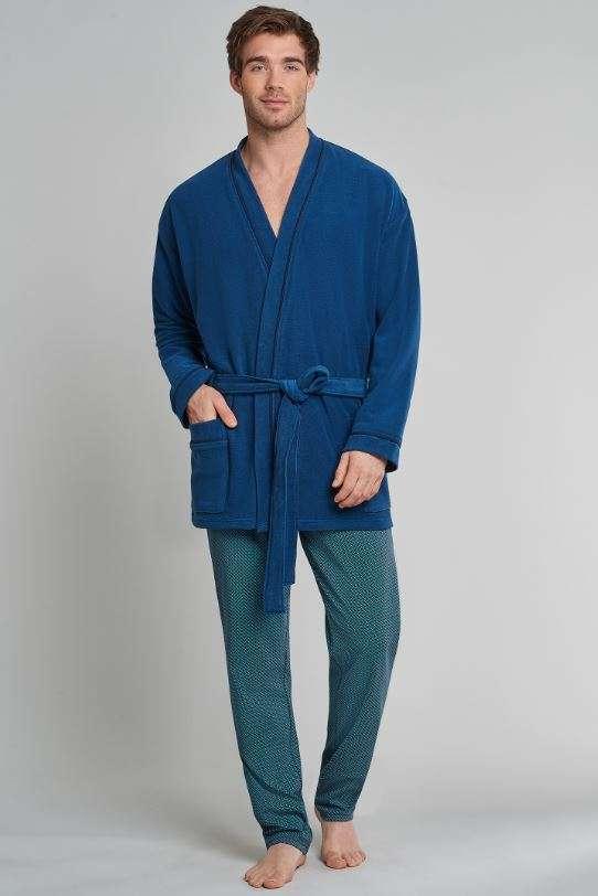 Kamerjas kort model nachtblauw