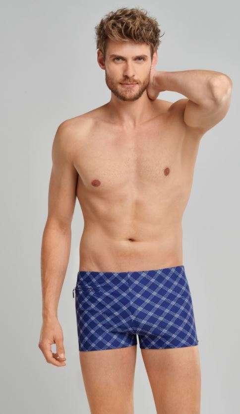 Heren zwemshort blauw
