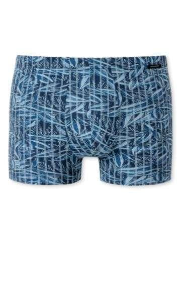 Boxershort lichtblauw met bloemmotief