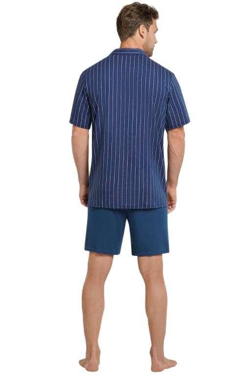 Heren pyjama doorknoop admiral