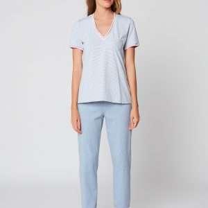Le Chat pyjama blue chine (3/4 broek)