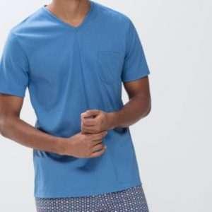 Heren pyjama royal blue